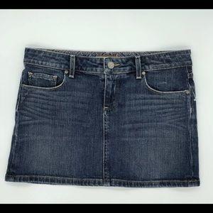 Paige Denim Woman's 26 Malibu Mini Denim Skirt